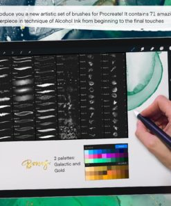 sale galaxy alcohol ink brushset 1 download now brushes pack