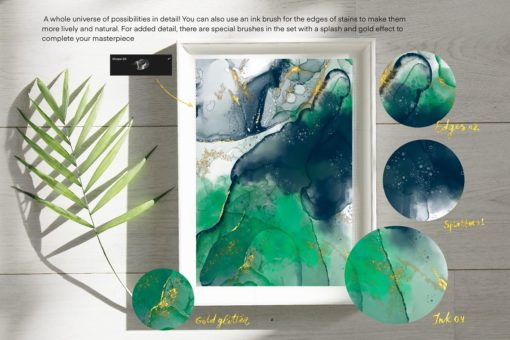 sale galaxy alcohol ink brushset 5 download now brushes pack