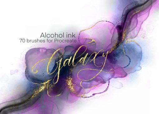 sale galaxy alcohol ink brushset download now brushes pack