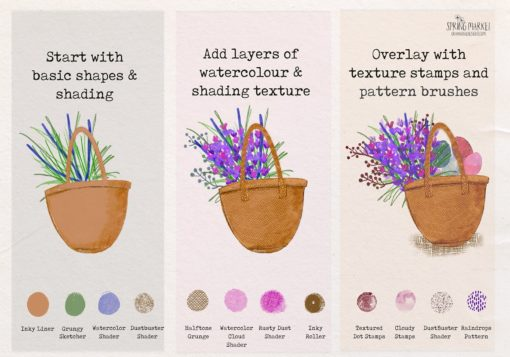 spring market procreate brushes 11 download now brushes pack