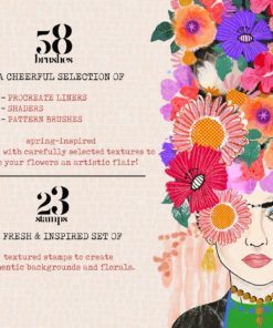 spring market procreate brushes 12 download now brushes pack