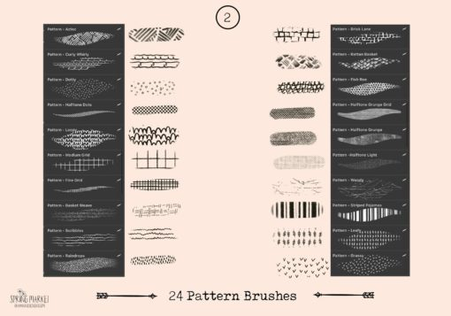 spring market procreate brushes 2 download now brushes pack