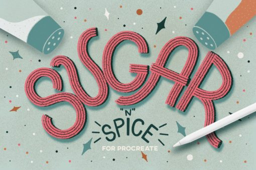 sugar spice brushes for procreate download now brushes pack