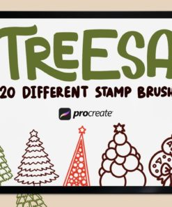 treesa 20 stamp brush procreate download now brushes pack