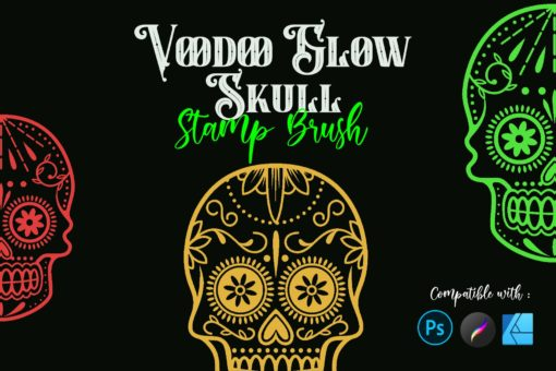 voodoo glow skull stamp brushes 2 download now brushes pack