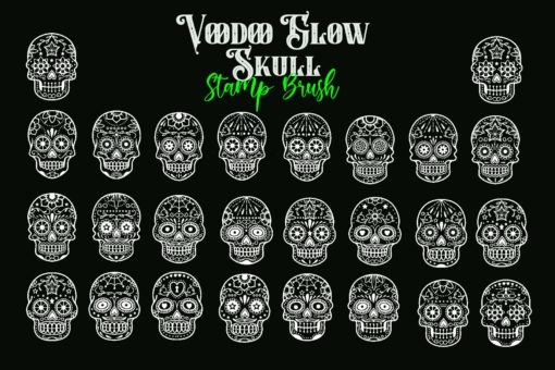 voodoo glow skull stamp brushes 3 download now brushes pack