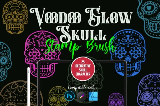 voodoo glow skull stamp brushes download now brushes pack
