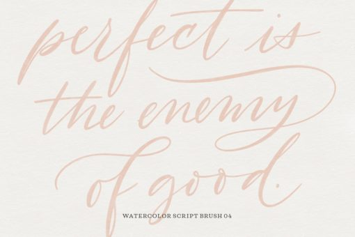 watercolor script procreate brushes 10 download now brushes pack