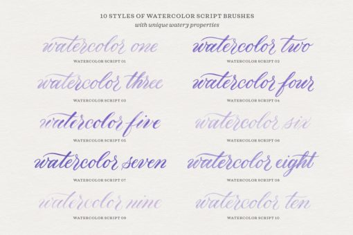 watercolor script procreate brushes 2 download now brushes pack