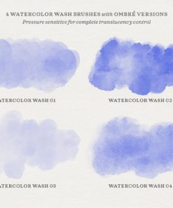 watercolor script procreate brushes 4 download now brushes pack