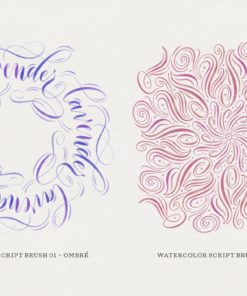watercolor script procreate brushes 9 download now brushes pack
