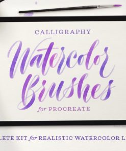 watercolor script procreate brushes download now brushes pack
