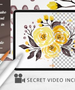 watercolor tool kit for procreate 1 download now brushes pack