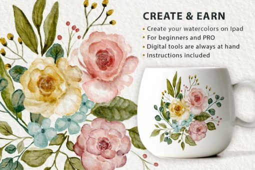 watercolor tool kit for procreate 2 download now brushes pack