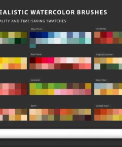 watercolor tool kit for procreate 6 download now brushes pack