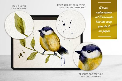 watercolor tool kit for procreate 7 download now brushes pack