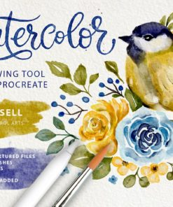 watercolor tool kit for procreate download now brushes pack