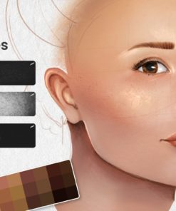 portrait bundle for procreate display skin download now brushes pack
