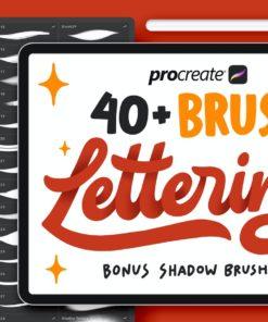+ procreate lettering brushes brushespack