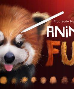 animal fur procreate brushes brushespack