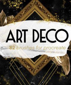art deco creator kit download now brushespack
