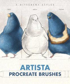 artista procreate brushes ( ) brushespack