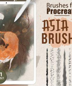 asia ink brushes procreate brushes download now brushespack
