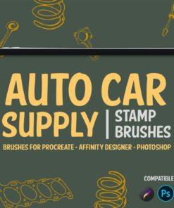 auto car supply stamp brushes brushespack
