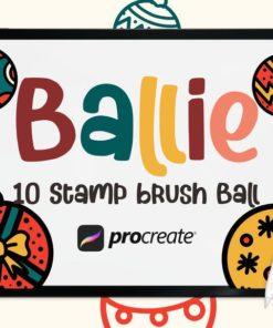 ballie ball stamp brushes brushespack