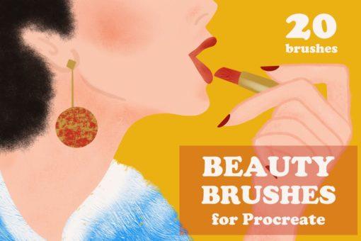 beauty brushes for procreate brushespack