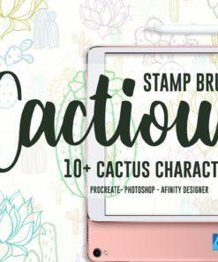 cactious stamp brushes brushespack