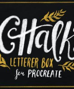 chalk letterer box for procreate brushespack