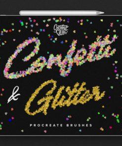 confetti and glitter procreate brushes pack brushespack