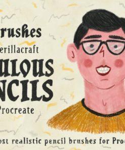 fabulous pencils for procreate brushespack