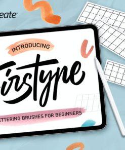 firstype procreate lettering brushes brushespack