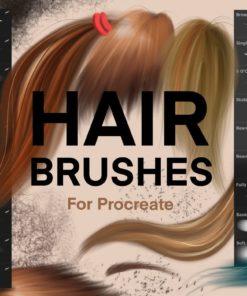 hair brushes for procreate brushespack