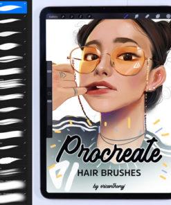 hair bundle procreate brushes brushespack