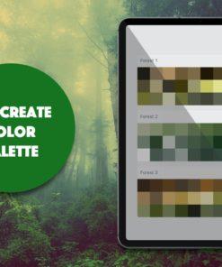 procreate palette foliage brushespack