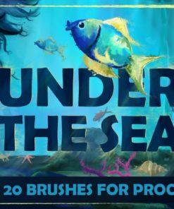 under the sea procreate brushes brushespack