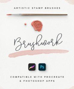 brushwork for procreate and photoshop brushespack