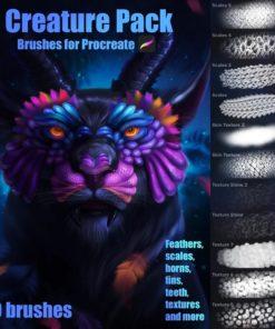 creature brushes for procreate ( ) brushespack