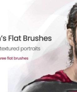flat portrait brushes for procreate brushespack