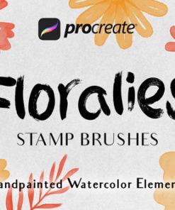 floralies stamp brushes procreate brushespack