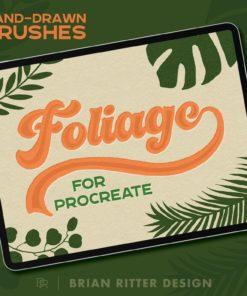 foliage brushes for procreate photoshop illustrator affinity brushespack