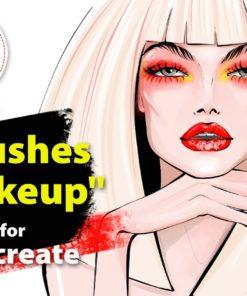 makeup brushes set for procreate ( ) brushespack