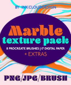 marble textures background procreate brushespack