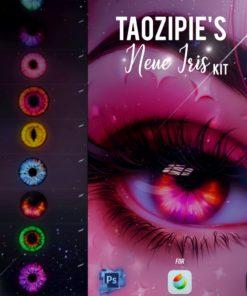 neue iris brushes for procreate and photoshop brushespack