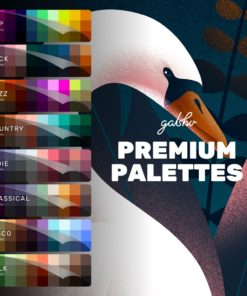 premium color palettes by gal shir for procreate brushespack