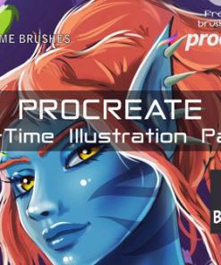 procreate all time illustration pack brushespack