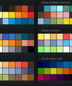 procreate color swatches palettes for painting and drawing brushespack